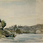 Camille Pissarro - The Banks of the Marne at Cennevieres. (1864-65)