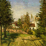 Camille Pissarro - The Pine Trees of Louveciennes. (1870)