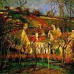 Camille Pissarro - Red Roofs, Corner of a Village, Winter. (1877)