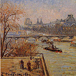 Camille Pissarro - The Louvre. (1901)