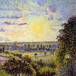 Camille Pissarro - Sunset at Eragny. (1891)