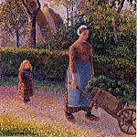 Camille Pissarro - Woman with a Wheelbarrow. (1892)