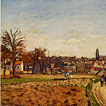 Camille Pissarro - View of Pontoise. (1873)