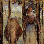 Camille Pissarro - The Cowherd. (1892)
