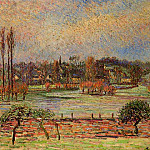 Camille Pissarro - Flood, Morning Effect, Eragny. (1892)