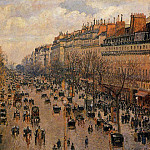 Camille Pissarro - Boulevard Montmartre - Afternoon, Sunlight. (1897)