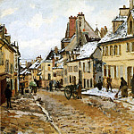 Camille Pissarro - Pontoise, the Road to Gisors in Winter. (1873)