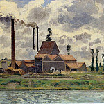 Camille Pissarro - The Factory. (1873)