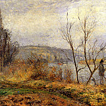 Camille Pissarro - The Banks of the Oise, Pontoise. (1878)