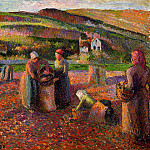 Camille Pissarro - Potato Harvest. (1893)