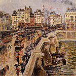 Camille Pissarro - The Pont-Neuf - Rainy Afternoon. (1901)