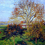 Camille Pissarro - Autumn Morning at Eragny. (1897)