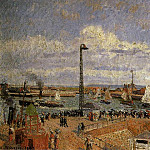 Camille Pissarro - The Pilots Jetty, Le Havre - High Tide, Afternoon Sun. (1903)