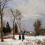 Camille Pissarro - The Road from Versailles to Saint-Germain, Louveciennes. Snow Effect. (1872)