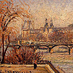 Camille Pissarro - The Louvre - Morning. (1903)