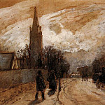 Camille Pissarro - Study for All Saints Church, Upper Norwood. (1871)