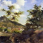 Camille Pissarro - Village at the Foot of a Hill in Saint Thomas, Antilles. (1854-55)