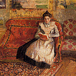Camille Pissarro - Jeanne Reading. (1899)