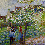 Camille Pissarro - Flowering Plum Trees. (1890)