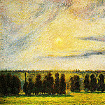 Camille Pissarro - Sunset at Eragny. (1890)