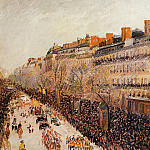 Camille Pissarro - Mardi-Gras on the Boulevards. (1897)