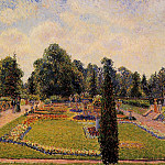 Camille Pissarro - Kew Gardens - Path between the Pond and the Palm House. (1892)