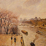 Camille Pissarro - The Louvre - Afternoon, Rainy Weather. (1902)