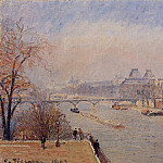 Camille Pissarro - The Louvre - March Mist. (1903)