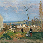 Eugen Gustav Ducker - Louveciennes with Mont Valerien in the background
