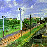 Camille Pissarro - The Train, Bedford Park. (1897)
