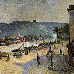 Camille Pissarro - The Quays at Rouen. (1883)