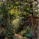 Camille Pissarro - Autumn, Path through the Woods. (1876)