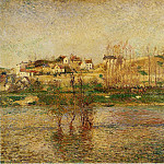 Camille Pissarro - Flood in Pontoise. (1882)