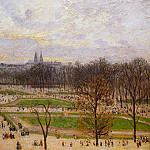 Camille Pissarro - The Tuilleries Gardens - Winter Afternoon. (1899)
