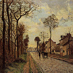 Camille Pissarro - Road in Louveciennes. (1870)