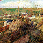 Camille Pissarro - View of Osny near Pontoise. (1883)