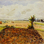 Camille Pissarro - Landscape at Eragny, Clear Weather. (1890)