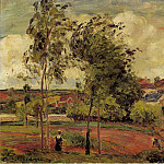 Camille Pissarro - Strong Winds, Pontoise. (1877)