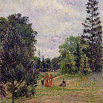 Camille Pissarro - Kew Gardens, Crossroads near the Pond. (1892)