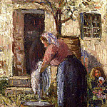Camille Pissarro - The Laundry Woman. (1898)