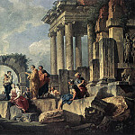 Apostle Paul Preaching On The Ruins, R K Post