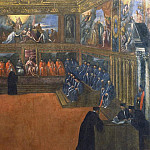 The Doge of Venice visits the Holy See, Palma il Giovane (Jacopo Negretti)
