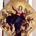 Palma il Giovane (Jacopo Negretti) - Madonna Carried by Angels