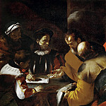 Lorenzo Lotto - St Peter is paying the temple tax with the coin from the fish's mouth
