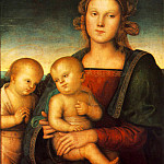 Pietro Perugino - Madonna with Child and Little St John 1497