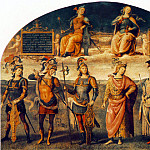 Pietro Perugino - Fortitude and Temperance with Six Antique Heroes 1497