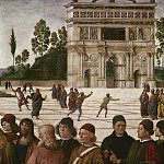 Pietro Perugino - Christ Giving the Keys to Saint Peter (detail)