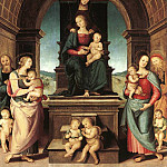 Pietro Perugino - The Family of the Madonna 1500 2