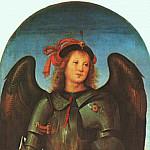 Pietro Perugino - St. Michael (Panel of the Polytych of Certosa di Pavia) c1499
