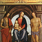 Pietro Perugino - The Madonna between St. John the Baptist and St. Sebastian 1493